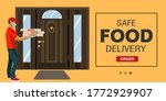 contactless delivery concept... | Shutterstock .eps vector #1772929907