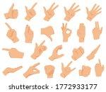 hand gestures.  illustration...   Shutterstock . vector #1772933177