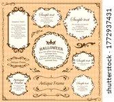halloween frame material ... | Shutterstock .eps vector #1772937431