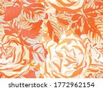 continuous floral design.summer ... | Shutterstock .eps vector #1772962154
