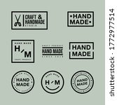 linear badges and logo design... | Shutterstock .eps vector #1772977514