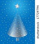 silver christmas tree design.... | Shutterstock .eps vector #17729794