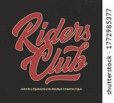 """riders club"". original brush... | Shutterstock .eps vector #1772985377"