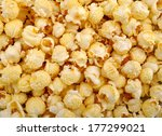 popcorn closeup popcorn   Shutterstock . vector #177299021