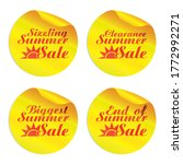 yellow summer sale stickers...   Shutterstock .eps vector #1772992271