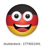 germany flag face vector... | Shutterstock .eps vector #1773021341
