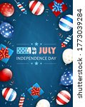 independence day background and ... | Shutterstock . vector #1773039284