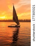 Felucca Boat Sailing On The...