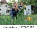 young woman farmer smilling ...