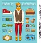 hipster character illustration... | Shutterstock .eps vector #177307919