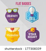 flat vector badges | Shutterstock .eps vector #177308339