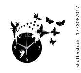 Stylish Butterfly Wall Clock...