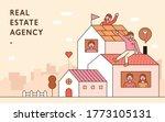 real estate agency advertising. ... | Shutterstock .eps vector #1773105131