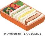 japanese lunch box bento.... | Shutterstock .eps vector #1773106871