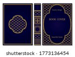 classical book cover and spine... | Shutterstock .eps vector #1773136454