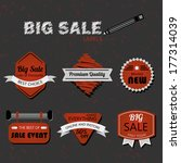 modern retro red and gray sale... | Shutterstock . vector #177314039