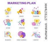 marketing plan icons. marketing ... | Shutterstock .eps vector #1773176444