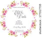 wedding invitation card | Shutterstock .eps vector #177317735