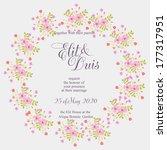 wedding invitation card | Shutterstock .eps vector #177317951