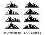 set of icons of mountains.... | Shutterstock .eps vector #1773188561