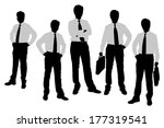 silhouettes of businessmen with ... | Shutterstock .eps vector #177319541