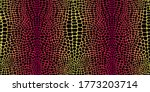 Seamless Pattern With Crocodile ...