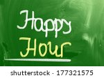 happy hour concept | Shutterstock . vector #177321575