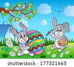 easter bunny topic image 3  ... | Shutterstock .eps vector #177321665