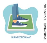 man standing on disinfection... | Shutterstock .eps vector #1773222107