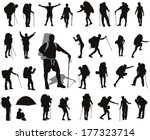 people with backpack vector... | Shutterstock .eps vector #177323714