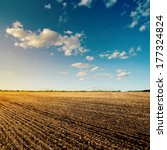 black field after harvesting... | Shutterstock . vector #177324824