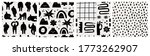 hand drawn various shapes ... | Shutterstock .eps vector #1773262907