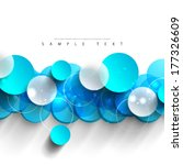 simple colorful overlapping... | Shutterstock .eps vector #177326609
