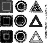 set of grunge stamp  | Shutterstock .eps vector #177326975
