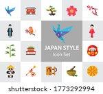 Japan Style Icon Set. Japanese...