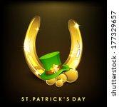 happy st. patrick's day...   Shutterstock .eps vector #177329657