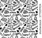 doodle seamless background | Shutterstock . vector #177329924