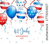 text independence day 4th of...   Shutterstock . vector #1773314027