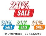 20 percentages sale  four... | Shutterstock . vector #177332069