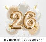 happy 26th birthday gold foil... | Shutterstock . vector #1773389147