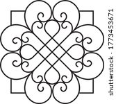 ornament floral wrought iron... | Shutterstock .eps vector #1773453671