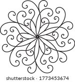 ornament floral wrought iron... | Shutterstock .eps vector #1773453674