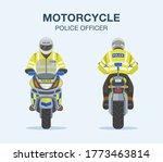 european traffic police officer ... | Shutterstock .eps vector #1773463814