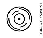 vinyl plate disc isolated on...   Shutterstock .eps vector #1773485924
