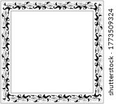 Vintage Square Frame With Blac...