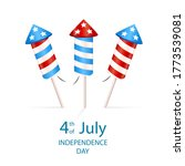 text 4th of july and firework...   Shutterstock . vector #1773539081