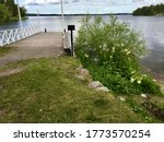 A Small Wooden Pier Towards Th...