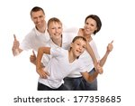 close up photo of happy family | Shutterstock . vector #177358685