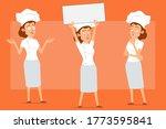 cartoon flat funny chef cook...   Shutterstock .eps vector #1773595841