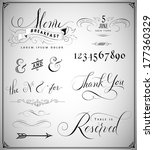 vintage design elements... | Shutterstock .eps vector #177360329